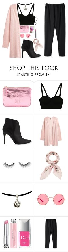 """Wear Pink : No.3✨"" by mehak11120 ❤ liked on Polyvore featuring ALDO, tarte, Manipuri, Ray-Ban, Christian Dior and Stephan Schneider"