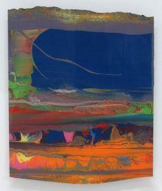 """Abdallah"" by Gerhard Richter, 2010, Enamel on back of glass"