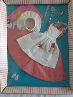 """VINTAGE 1959-1962 BARBIE OUTFIT """"BARBIE-Q"""" #962 MIB NRFB NEVER REMOVED FROM BOX"""