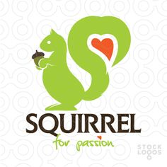 A cute squirrel whose tail forms a heart. (Nuts, nut, education, marketing, advertisement agency, media, software, graphic design, web design firm, hosting, technology firm, software developer, technology product, app developer, multimedia, music, web 2.0 company, home decor, staging, networking, real estate, consultant, publisher, entertainment business, movie production, animator, 3D cad, fashion, children, production, garden, stuff for kids)