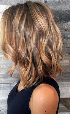 2019 Hairstyles Diy And Tutorial For All Hair Lengths 066 - Fashion Moda 2019 Hair Color And Cut, Brown Hair Colors, Balayage Hair, Ombre Hair, Medium Lenth Hair, Medium Length Layered Hairstyles, Medium Blonde, Medium Hair Styles, Curly Hair Styles