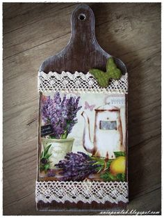 tabla Decoupage Art, Decoupage Vintage, Save On Crafts, Crafts To Make, Decor Crafts, Diy Crafts, Craft Projects, Projects To Try, Crafts For Seniors