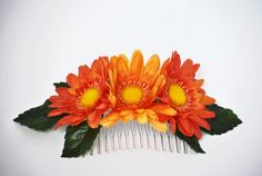 Comb hair comb comb for girl flower in by SpringFlowerBoutique