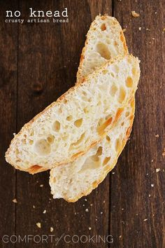 No-Knead Crusty Artisan Bread – My most reader-loved recipe! This crusty, fluffy artisan bread needs only 4 ingredients and 5 minutes. No Knead Bread, Yeast Bread, Artisan Bread Recipes, Bread Rolls, Bread Baking, Bread Food, I Love Food, Food To Make, Cooking Recipes
