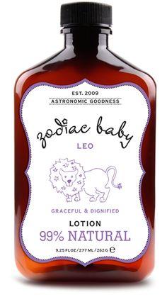 Zodiac Baby Leo Natural Baby Lotion