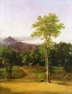 Cabin in the Woods, North Conway, New Hampshire - Oil Painting Reproduction
