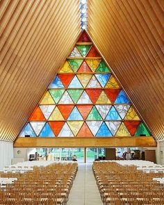 Cardboard Cathedral in New Zealand By Shigeru Ban. #architecture #art #artsy #architexture #arquitectura #arquitecture #arquitetura #arquitecto #arquitectos #arquiteto #arquitetos #arkitektur #architektur #architektura #architettura #architetto #archilovers #abstract #interiordesign #interior #interiors #cathedral #colorful #triangle #instagood #building #buildings #newzealand #archiphen by archiphen