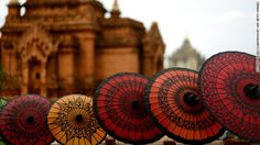 umbrellas in Myanmar