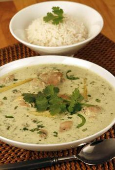 Thai green chicken curry from a San Luis Obispo restaurant
