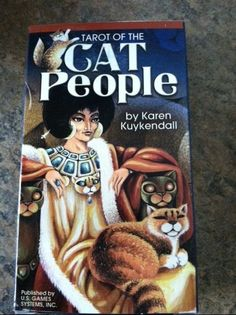 TAROT OF CAT PEOPLE CARDS DECK BOOKLET MYSTIC PAGAN FANTAY MEDITATION CHARITY