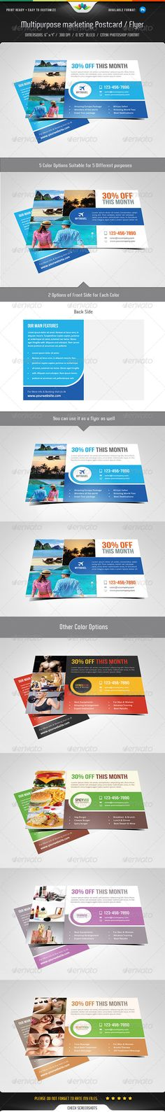 Multipurpose Marketing Postcard / Flyer Template - Commerce Flyers