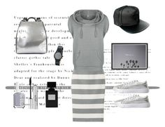 """""""Grey Area"""" by lifestylestories ❤ liked on Polyvore featuring Uniqlo, Bench, Charlotte Russe, Ruxx, Nixon, Essie and Stila"""