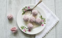 """Want to break the chocolate overload this Easter? Why not try Raspberry Coconut Bliss Balls or simply """"Easter Bunny Tails""""."""