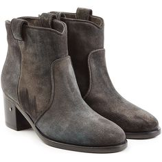 Laurence Dacade Suede Ankle Boots ($770) ❤ liked on Polyvore featuring shoes, boots, ankle booties, grey, gray boots, suede booties, suede boots, suede bootie and grey booties