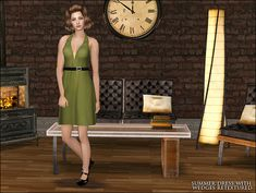 Summer Dress with Wedges Retextured