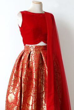 No Opulence Skirt - Red only top