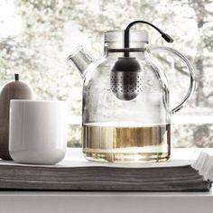 Teekanne Kettle Glas mit Tee-Ei