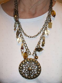 Chunky Statement Necklace with Dangles and by UniqueDesignsbyCK, $24.95