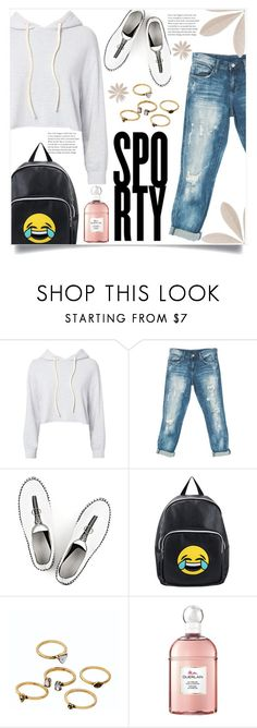 """sporty"" by ainzme ❤ liked on Polyvore featuring Monrow, Sans Souci, Alexander Wang, Olivia Miller, WithChic and Guerlain"