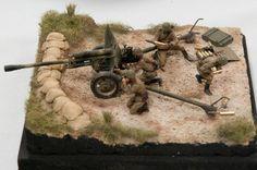 Artillery Field Gun 1/35 Scale Model Diorama