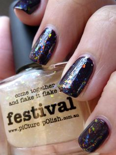Festival (Picture Polish) // Plum Luck (Sally Hansen)