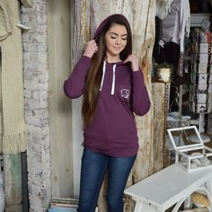 Royal Purple Boyfriend T-Shirt Hoodie