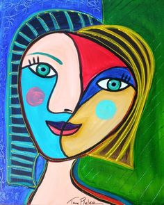 Abstract portrait by Picasso #pablopicasso #art http://www.keypcreative.com/