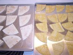 Easy homemade tortilla chips #DIY