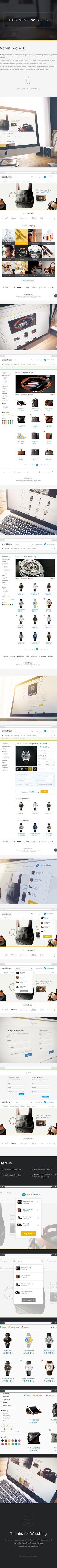 E-Site Business Gifts Web Design by Simon Aleksander, via Behance