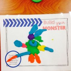 Easy to use, quick and fun--this craft with playdough is great for your speech therapy classroom! Hold your students' interest with the fun printable guide to build your own monster! #TpT #SpeechBubble #summer #BackToSchool #fun #LessonPlans #dough #sensory #SPD #SPED #SLP