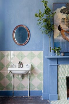 Boho Home Decor Bert & May Limewash Paint Bathroom Inspiration, Interior Inspiration, Interior Ideas, Bert And May Tiles, Craftsman Home Interiors, Art Interiors, Design Apartment, Interior Minimalista, Moving House