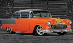 Fantastic Flamed '55 Chevy