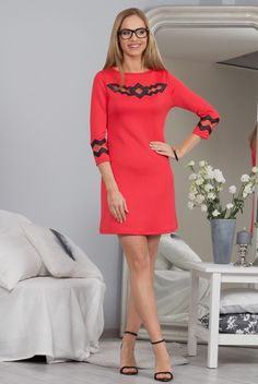 Sukienka koralowa 9821