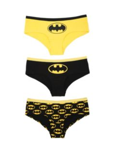 DC Comics Batman Classic Hot Pants 3 Pack
