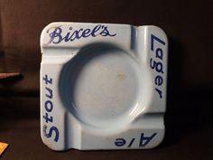 Vintage Bixel's Brewery Square Porcelain Metal Ashtray Canadian. Brantford. Ont.   eBay