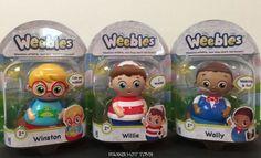 *Weebles Wobble Neighborhood Friends Figures - Willie, Wally & Winston NEW 2016 #Hasbro