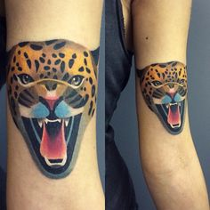 """This tattoo has been made today for @wildtattoo_friendsmoscow The earned funds will be donated to WWF to save Far Eastern Leopard #WWF #sashaunisex  Thank…"""