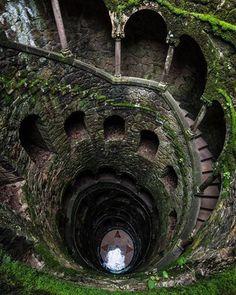 Iniciatic Well, Regaleria Estate, Sintra, Portugal  PhotoBy: DeborahSmolinkse