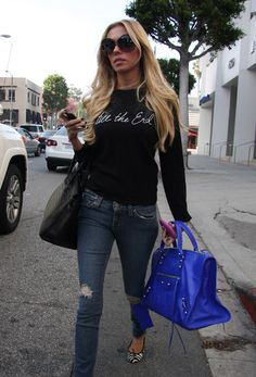 Balenciaga City Bag.  I want this blue!!