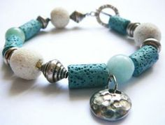 Ocean Mama - Bracelet / Lava and Amazonite by earthlifeshop for $49.00