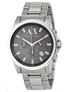 Armani Exchange Chronograph Crystals Grey Dial AX2092 Men s Watch Armani  Exchange Mens Watch 461fefed21