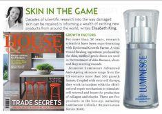House & Garden Australia magazine's Elizabeth King wrote about Jeunesse LUMINESCE anti-aging serum.