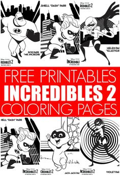 Free Incredibles 2 Coloring Pages Activities Your Kids Will Love