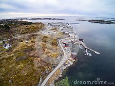 Aerial View Of The Fisheries On The Coast Of Norway Editorial Stock Image - Image of landscape, aerial: 89890404 Landscaping Images, Lofoten, Aerial View, Norway, Vectors, Tourism, Coast, Environment, Clouds