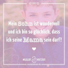 … und ein süßes Kompliment an eure Söhne.  Mehr schöne Sprüche auf: www.mutterherzen.de  #sohn #söhne #glück #glücklich #stolz #mutterliebe #liebe #mutter #mama #mutti #baby