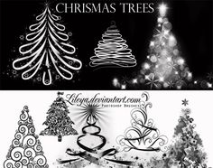 500 Christmas Photoshop Brushes and other Resources for Holiday Designs