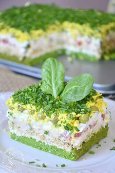 Cake Sandwich, Sandwiches, Easter Recipes, Appetizer Recipes, Salad Cake, Guacamole Recipe Easy, Easy Cake Recipes, Savoury Cake, Love Food