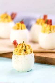 Bacon, Chive & Cheese Deviled Eggs