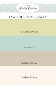 Favorite Paint Colors: Favorite Color Combos + Chip It. Khaki shade