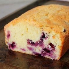 You'll love this blueberry sour cream pound cake! It's flavorful, soft, and has the most delicious outer crust you've ever tasted. Bake it today!